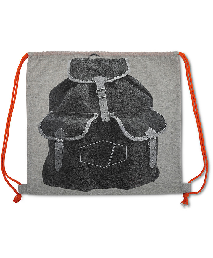 Regenerated Cotton Backpack 165gr/mtq with 2 Laces