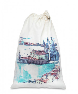 Prints Artist Twill Satin Bag White 100% Cotton 135 gr / mq