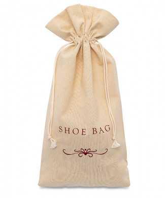 Sacchetti per Hotel, Scarpe Confezione Caramella Cotone 100% REPS Naturale Ecrù 200gr/mtq
