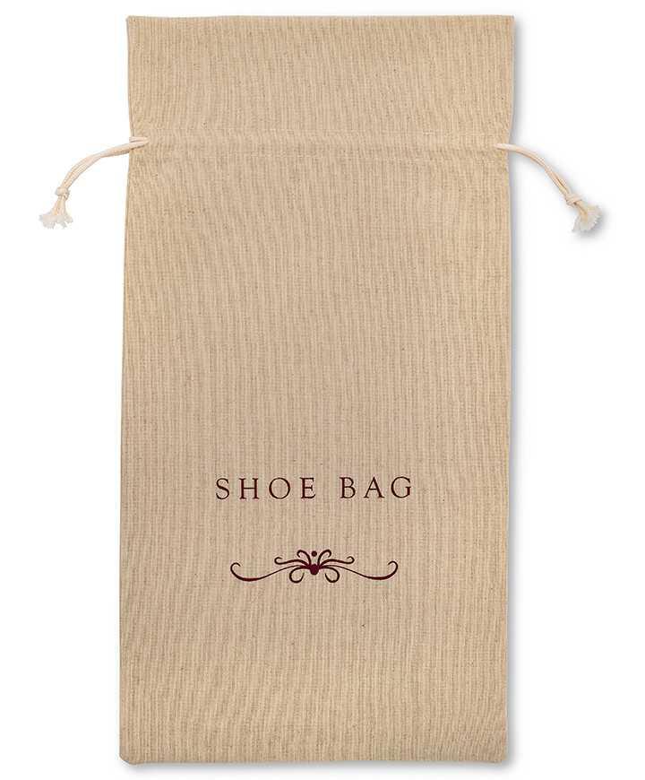 Sacchetti per Hotel, Alberghi, Scarpe Confezione Caramella Cotone 100% REPS Naturale Ecrù 200gr/mtq