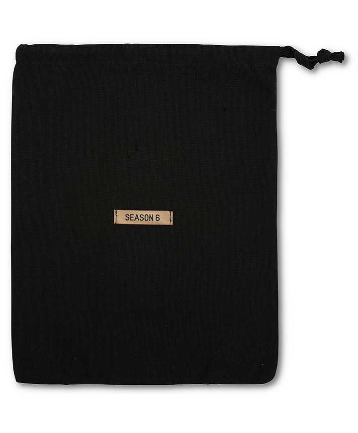 Sacchetto per Scarpe e Tronchetti REPS Nero Cotone 100% 160gr/mtq, 1 Nastro Cotone Pesante 10mm