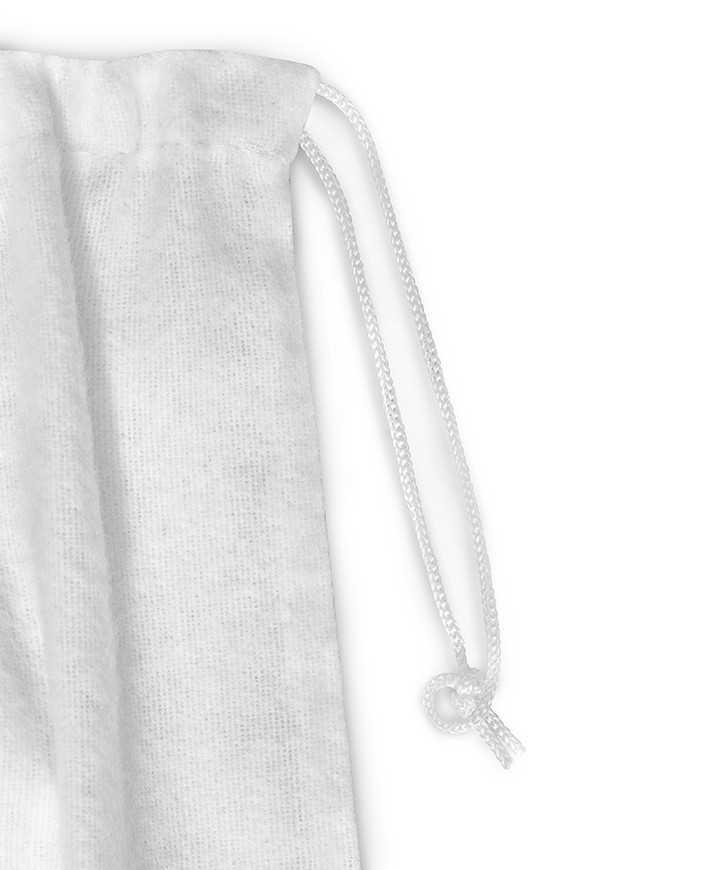 Sacchetto in Felpatino Bianco per Scarpe Donna 165 gr/mtq 1 laccio