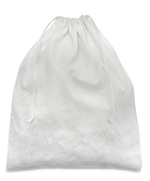 Sacchetto Bianco in Viscosa 100% da 100 gr/mtq per Scarpe, Pochette e Clutch