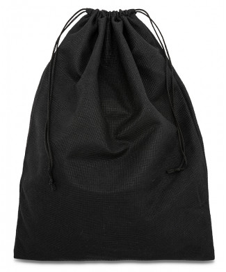 Black Bag for Belts, Unisex Shoes and Leather Goods made of Soft Polyester 120gr/mtq