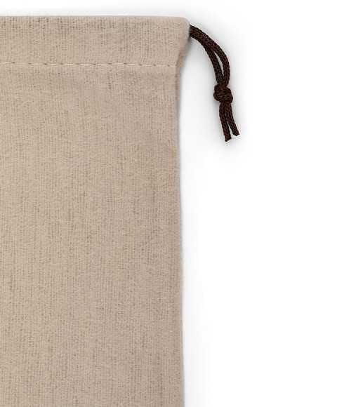 Tripolino shape Treccia Brown Laces for Fleece Bags