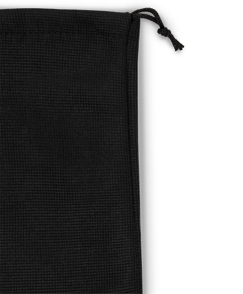 Tripolino shape Treccia Black Laces for Fleece Bags